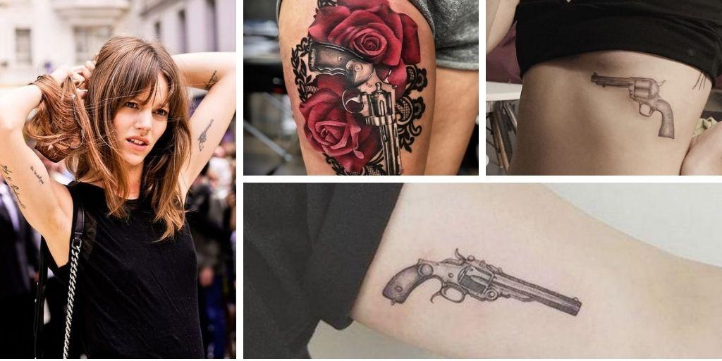 Tatouage Revolver : 14 idées pour les femmes