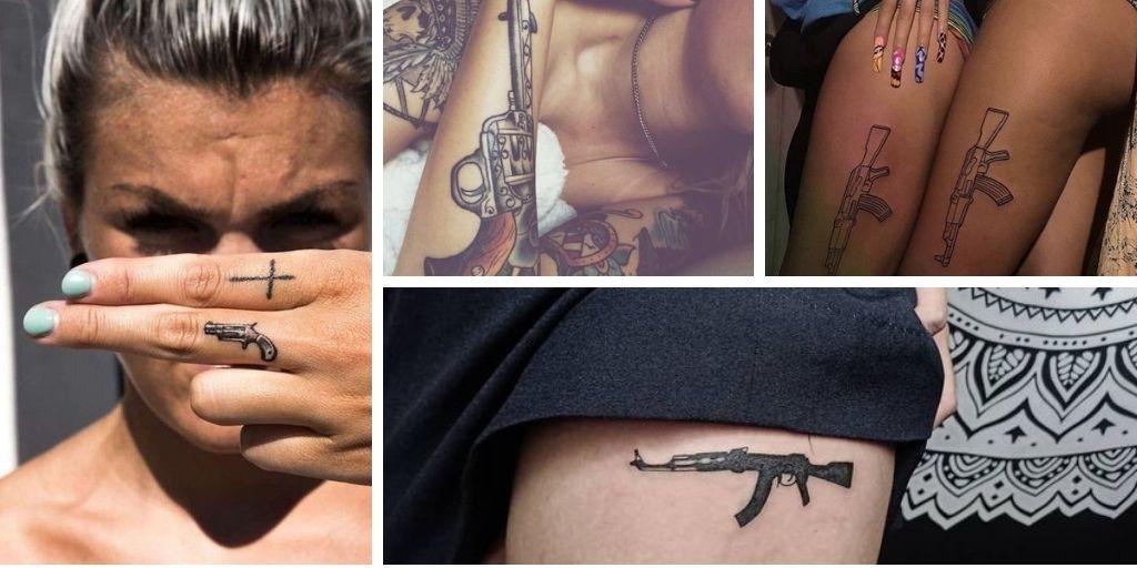 Tatouage arme à feu : 20 idées pour les femmes