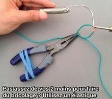 Utiliser un élastique pour faire du bricolage