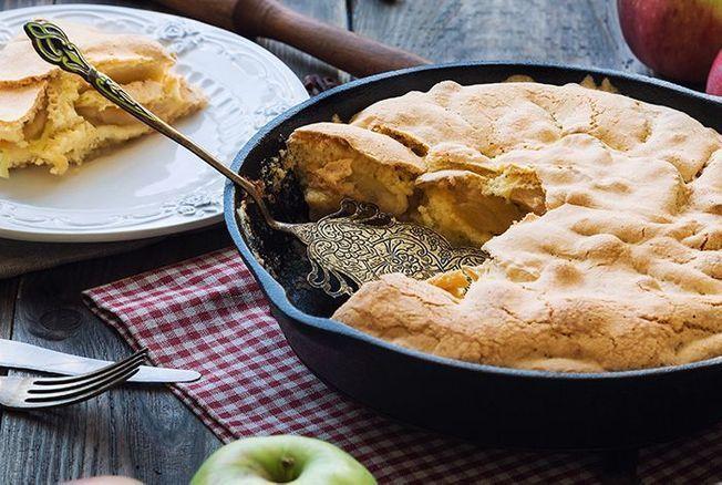 fameux gâteau cuit à la poêle