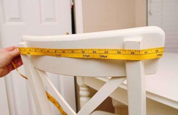 mesurer le dossier de chaise