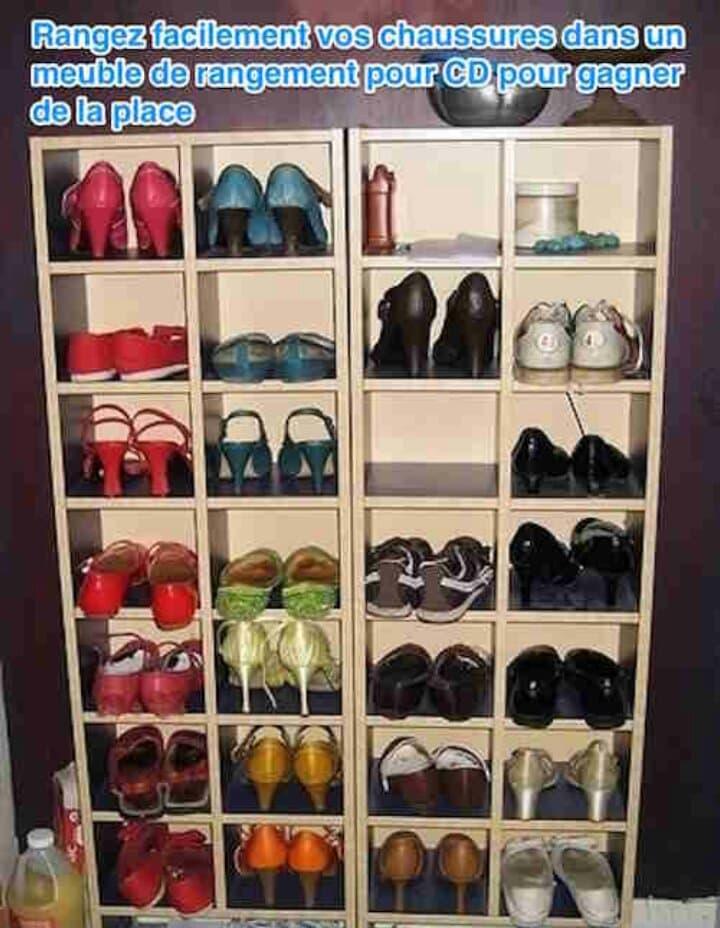 Astuce pour ranger vos chaussures