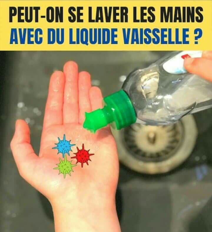 Le liquide vaisselle est-il efficace pour se laver les mains