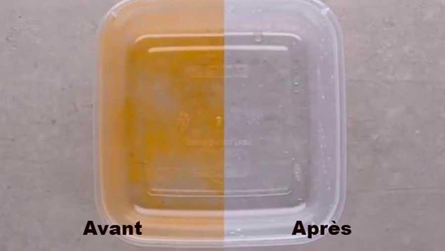 Récupérer un Tupperware taché par de la sauce tomate