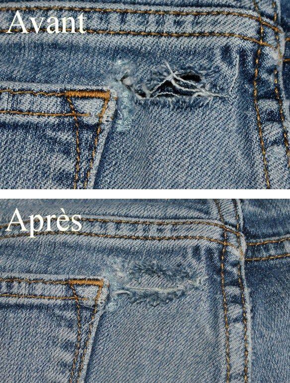 Réparer les vêtements usés ou déchirés facilement
