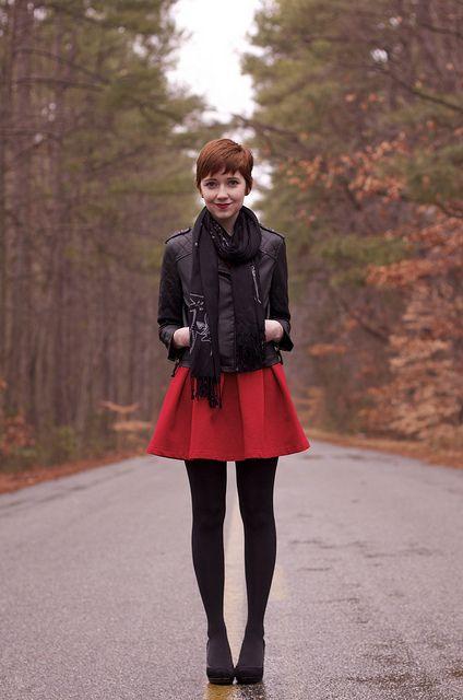 jupes courtes rouges