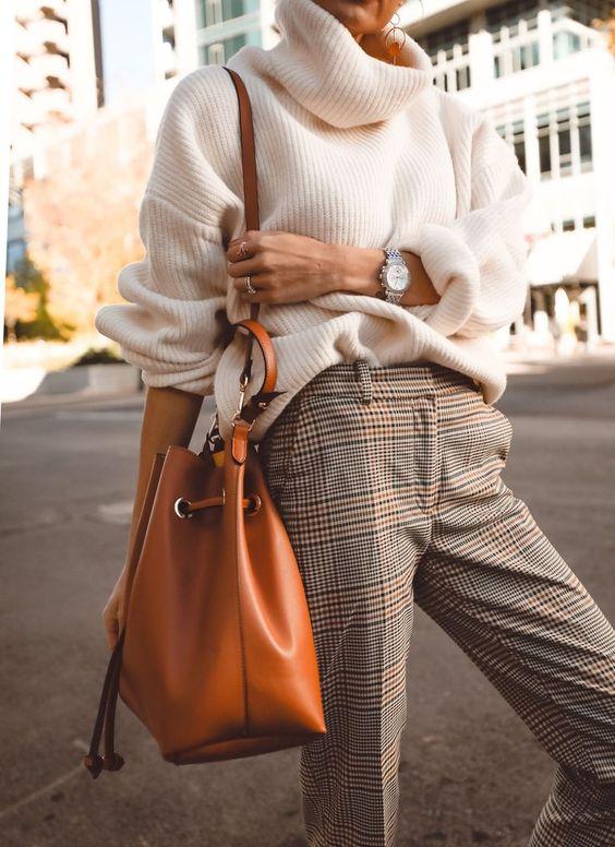 pantalons carreaux femme