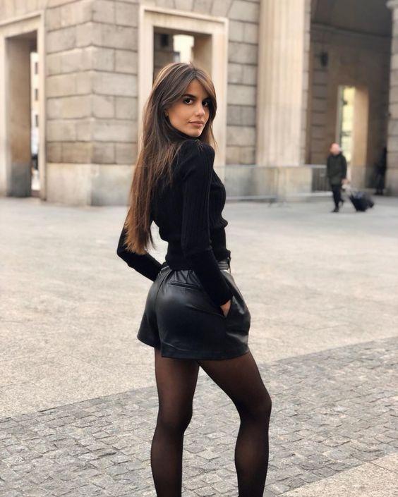 short avec des collants